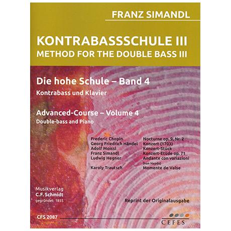 Simandl, F.: Kontrabassschule III - Die hohe Schule Band 4
