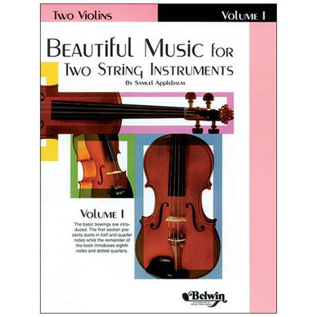 Applebaum, S.: Beautiful Music for two String Instruments Vol. 1 – Violine