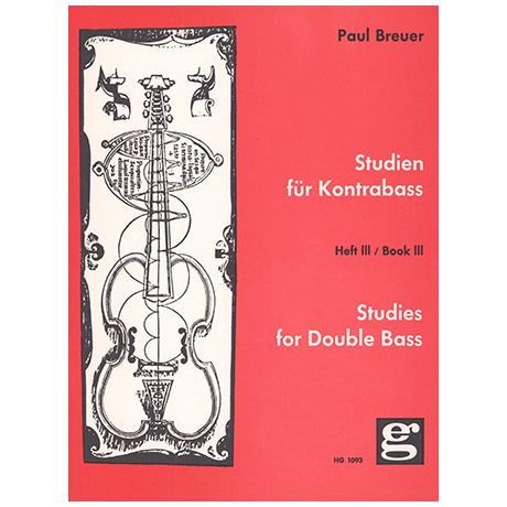 Breuer: Studien für Kontrabass Band 3