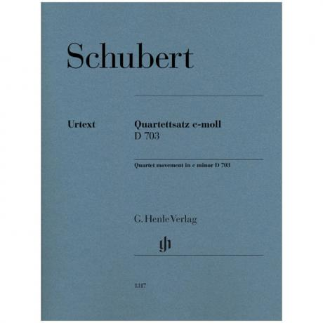 Schubert, F.: Streichquartettsatz D 703 c-Moll