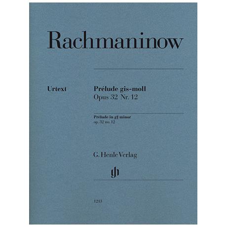 Rachmaninow, S.: Prélude Op. 32 Nr. 12 g-Moll
