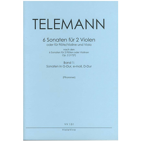 Telemann, G. Ph.: Sonaten Op. 2 Band 1