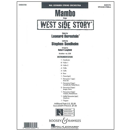 Bernstein, L.: Mambo aus »West Side Story« – Partitur
