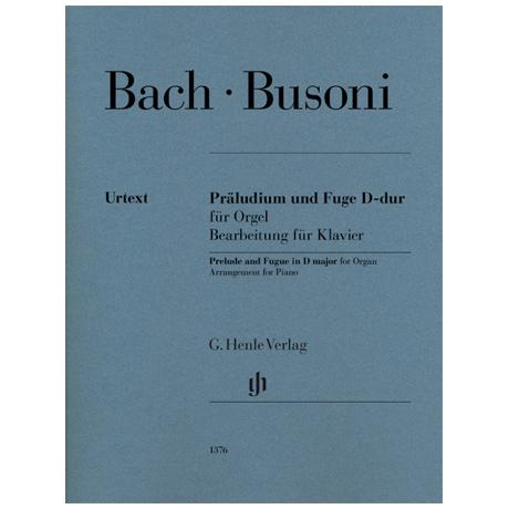 Busoni, F.: Präludium und Fuge D-dur für Orgel (Johann Sebastian Bach)