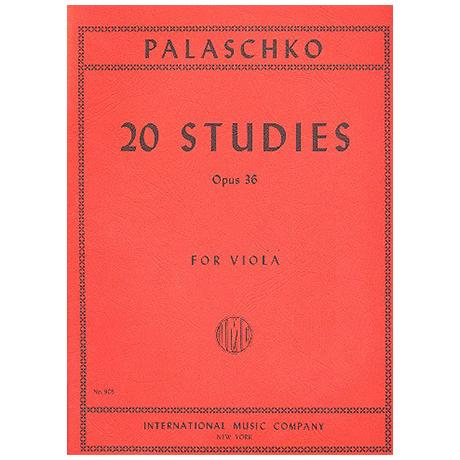 Palaschko, J.: 20 Etüden Op. 36