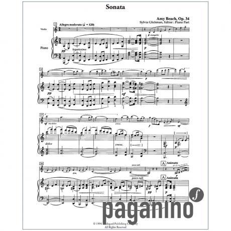 Beach, A.: Violinsonate Op. 34