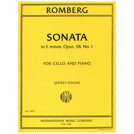 Romberg, B. H.: Sonate Op. 38/1 e-Moll