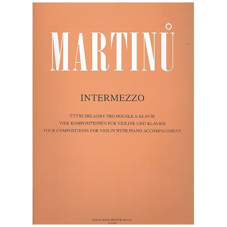 Martinu, B.: Intermezzo