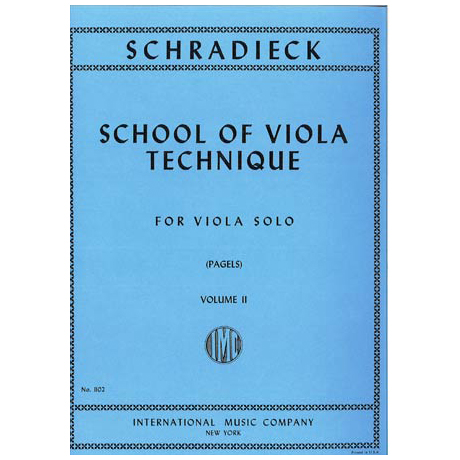Schradieck, H.: Schule der Viola-Technik Band 2