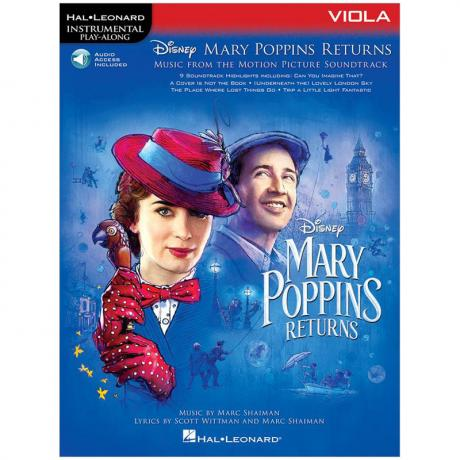 Mary Poppins Returns for Viola (+Online Audio)