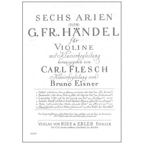 Händel, G. F.: 6 Arien Band 6 — Marsch