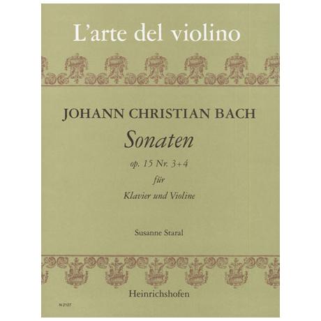 Bach, J. Chr.: Sonaten Op.15 Nr.3-4