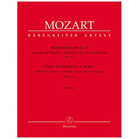 Mozart, W. A.: Klavierkonzert Nr. 12 KV 414 A-Dur
