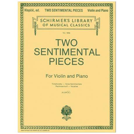 Tschaikowski, P. I. / Rachmaninoff, S.: Two Sentimental Pieces