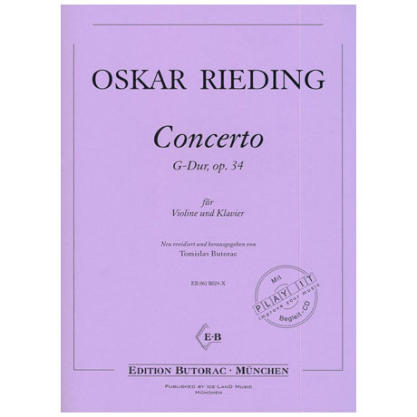 Rieding, O.: Concerto G-Dur op. 34 (+CD)
