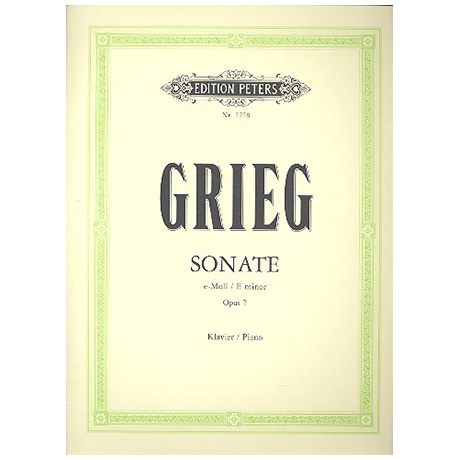 Grieg, E.: Sonate e-Moll Op. 7