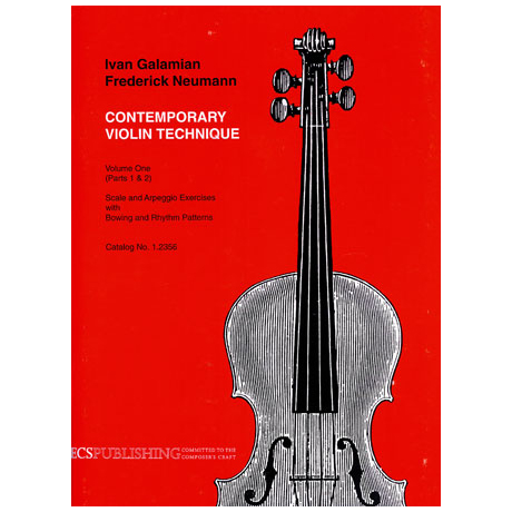Galamian, Ivan: Contemporary violin technique Vol. 1 - Parts 1 + 2