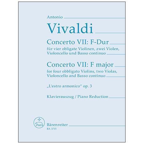 Vivaldi, A.: Concerto 9 aus L'Estro armonico F-Dur Op. 3 Nr. 9