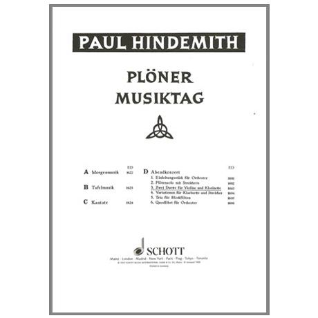 Hindemith, P.: Plöner Musiktag, Abendkonzert Nr.3