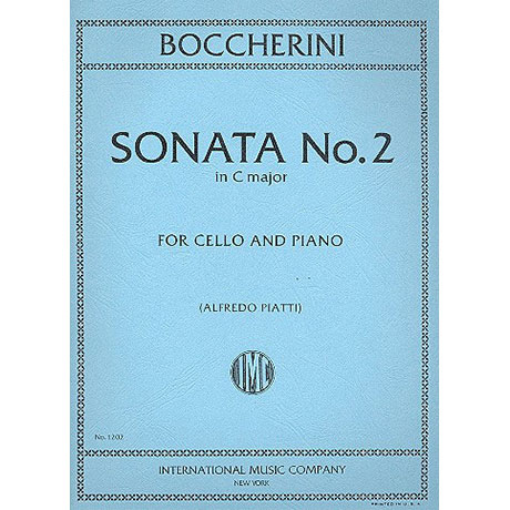 Boccherini, L.: Violoncellosonate Nr. 2 C-Dur