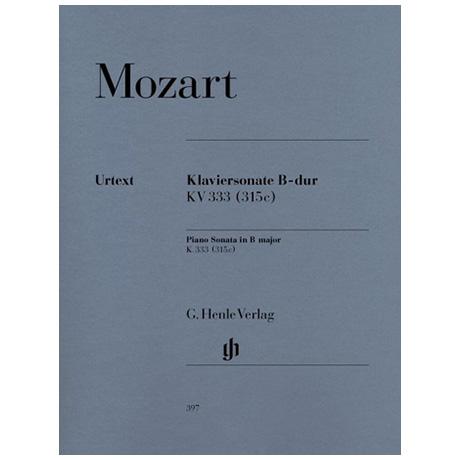 Mozart, W. A.: Klaviersonate B-Dur KV 333 (315c)