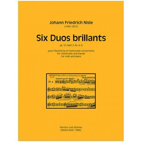 Nisle, J. M. F.: Six Duos brillants Band 2 Op. 51/4-6