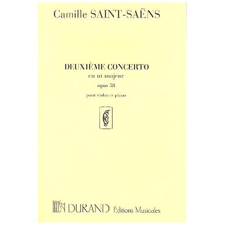 Saint-Saëns, C.: Konzert Nr. 2 für Violine und Orchester Op. 58 C-Dur
