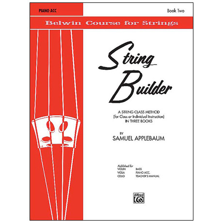 Applebaum, S.: String Builder Book Two – Piano