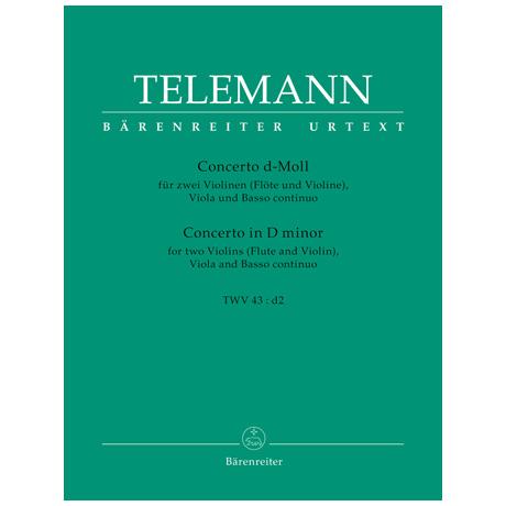 Telemann, G. Ph.: Concerto TWV 43:d2 d-Moll