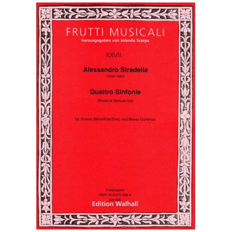 Stradella, A.: Sinfonie per Violino solo e Basso – Bd.1 (Modena)