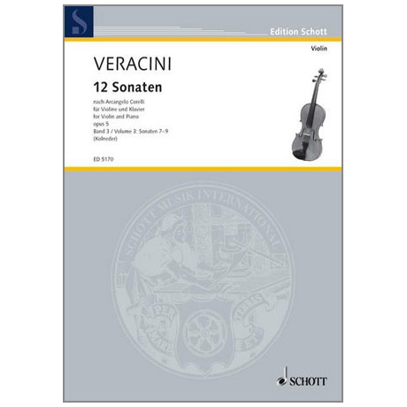 Veracini, F.M.: 12 Sonaten nach Corellis Op.5 Band 3