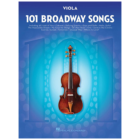 101 Broadway Songs for Viola