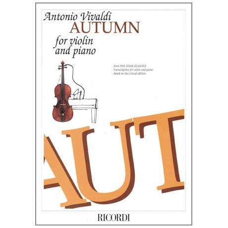 Vivaldi, A.: Violinkonzert Nr. 3 Op. 8 RV 293 F-Dur »Der Herbst«