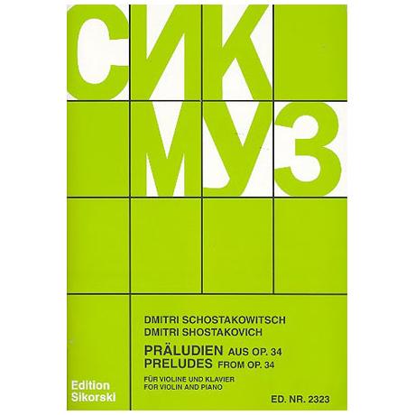 Schostakowitsch, D.: 19 Präludien aus Op. 34