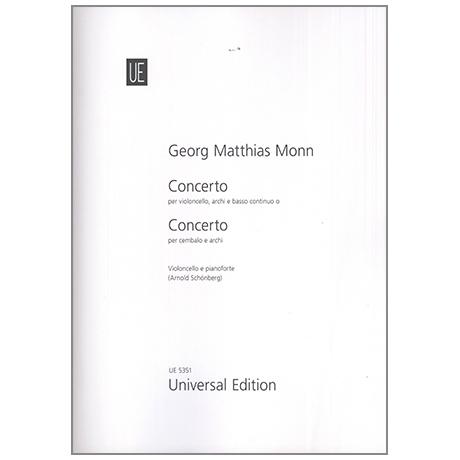 Monn, G. M.: Violoncellokonzert g-Moll