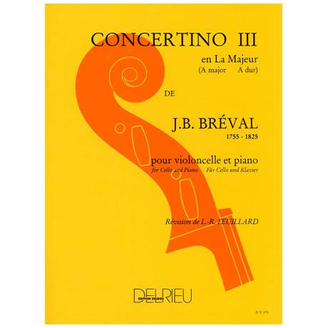 Bréval, J.B.: Concertino Nr.3 A-Dur