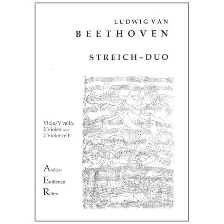 Beethoven, L.v.: Sonatensatz Duett mit zwei obligaten Augengläsern in Es - Dur