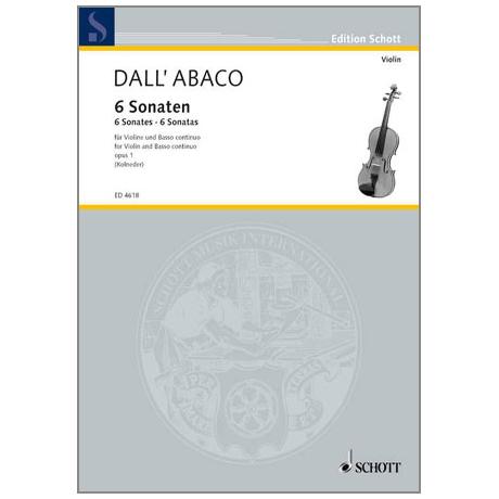 Dall'Abaco, E.F.: Sechs Sonaten Op.1