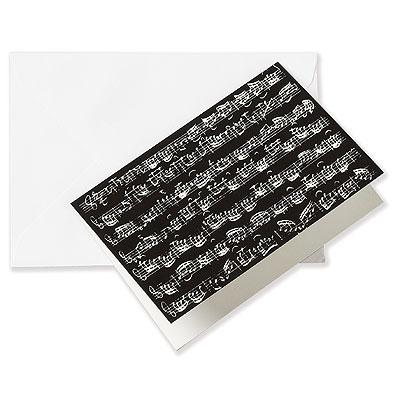 Grusskarte NOTES black