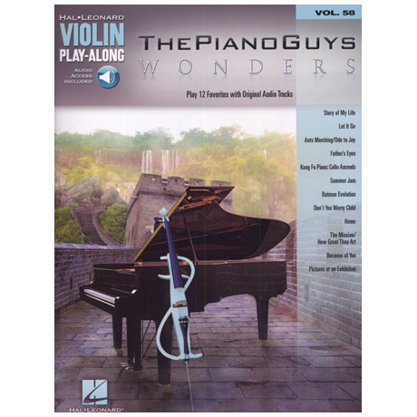 The Piano Guys: Wonders – Violin Play Along 58 (+Online Audio)