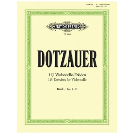 Dotzauer, J. J. F.: 113 Etüden Band 1 (Nr. 1-34)