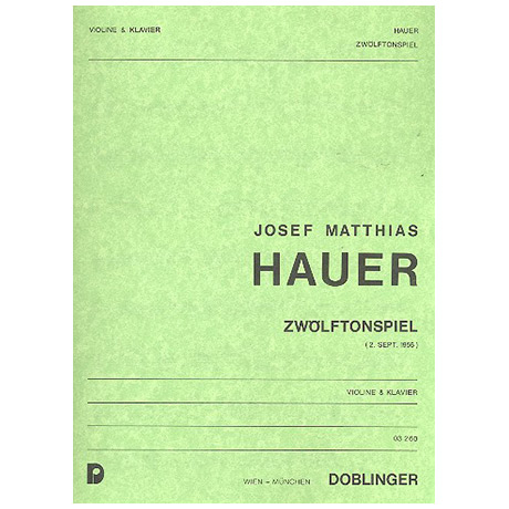 Hauer, J. M.: Zwölftonspiel (1956)