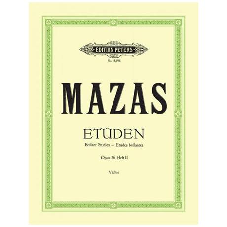 Mazas, J. F.: Etüden Op. 36 Band 2: 27 Etudes brillantes