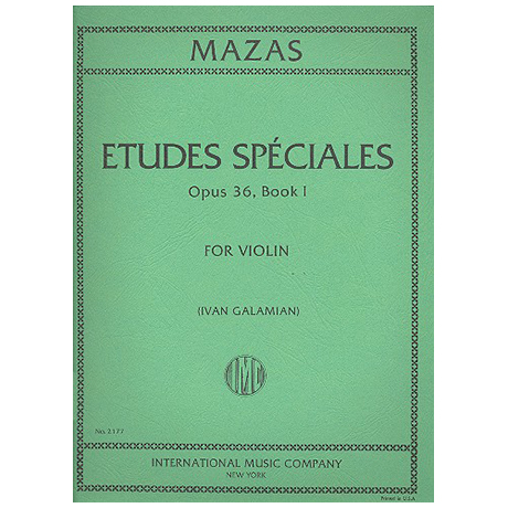 Mazas, J. F.: Etudes Speciales Op. 36/1