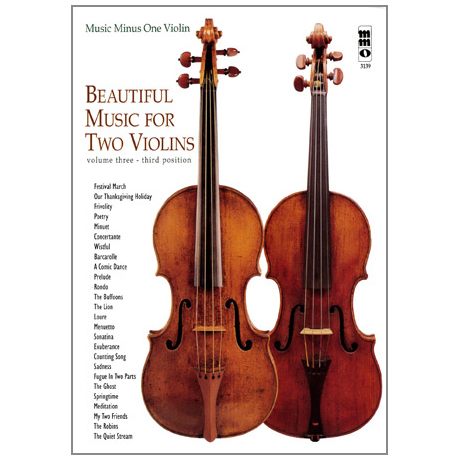 Beautiful Music for 2 Violins Vol.3 (+2CDs)