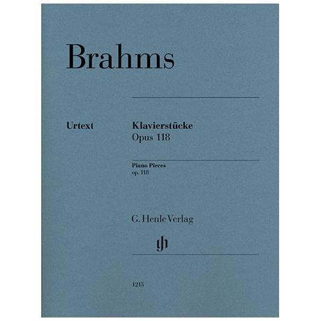 Brahms, J.: Klavierstücke Op. 118/1-6