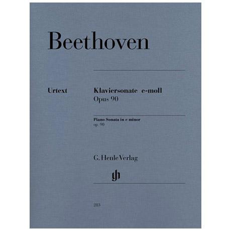 Beethoven, L. v.: Klaviersonate Nr. 27 e-Moll Op. 90