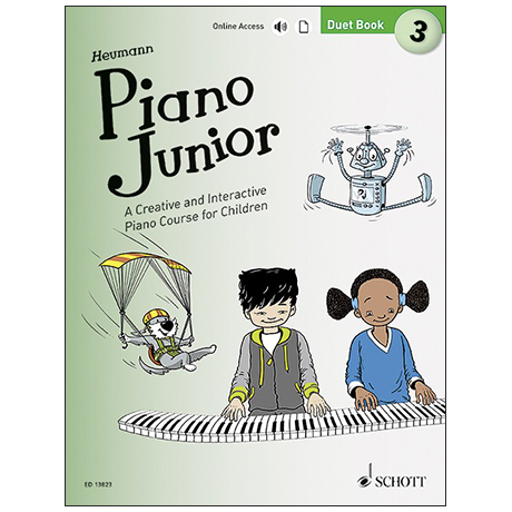 Heumann, H.-G.: Piano Junior –  Duet Book 3 (+ Online Audio)
