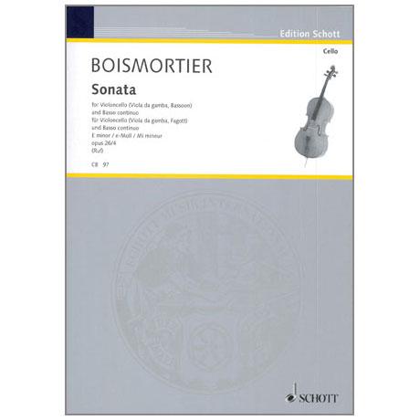 Boismortier, J. B. d.: Violoncellosonate Op. 26/4 e-Moll