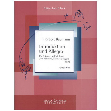 Baumann, H.: Introduktion und Allegro